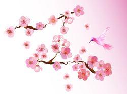 Наклейки Розовая веточка