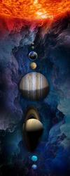 Наклейки Солнечная систем