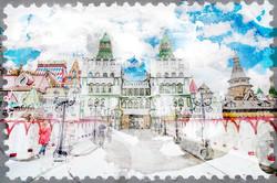 Наклейки Красочная Москва