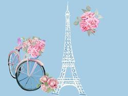 Наклейки Винтажный Париж