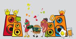 Наклейки Музыкальная еда