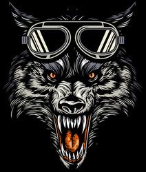 Наклейки Дикий волк