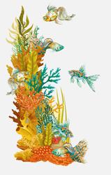 Наклейки Коралловый риф