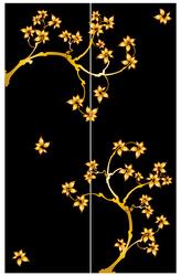 Наклейки Золотой цветочный орнамент