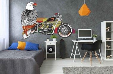 Наклейка мотоцикл и орел