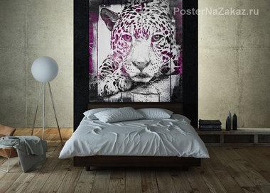 Наклейка Сиреневый леопард