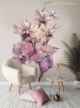 Наклейка Веточка орхидеи