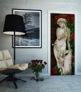 Наклейка Статуя в саду