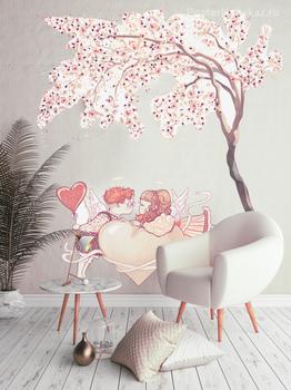 Наклейка Под деревом любви
