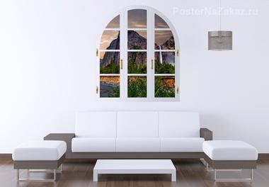 Наклейка Вид из окна