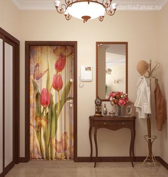 Наклейка Букет тюльпанов