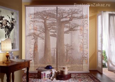 Наклейка Стволы деревьев