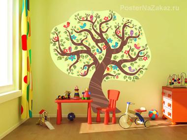 Наклейка Весеннее дерево