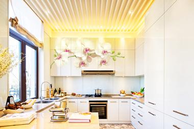 Наклейка Орхидея на кухонный шкаф