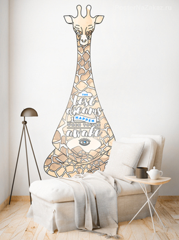 Наклейка Медитация жирафа