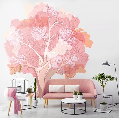 Наклейка Розовое дерево