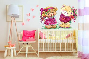 Наклейка Влюбленные Медвежата