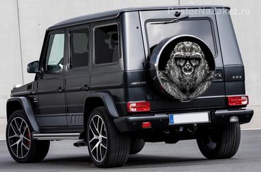 Наклейка Брутальная шимпанзе
