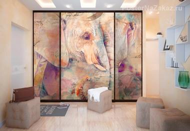 Наклейка Пара слонов