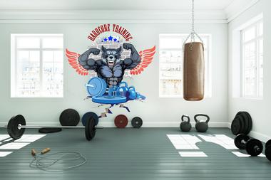 Наклейка Hardcore training