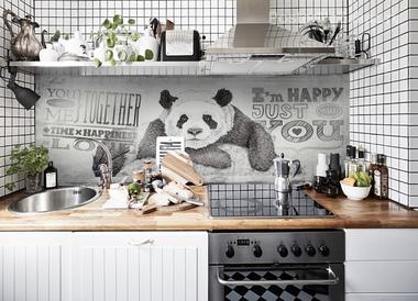Наклейка Забавная панда