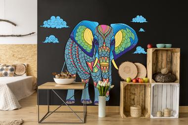 слон мозайка