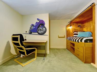 Наклейка синий мотоцикл