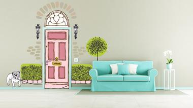 Наклейка Дверь иллюстрация