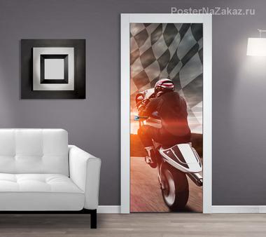Наклейка Мотоциклист