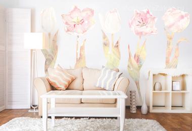 Наклейка Нежные тюльпаны