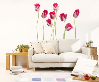 Наклейка Весенние тюльпаны
