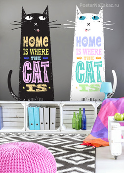 Наклейка Пара котов