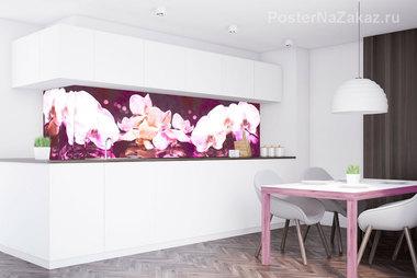 Наклейка Розовые орхидеи