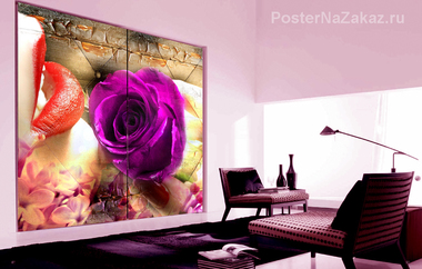 Наклейка Роза и губы