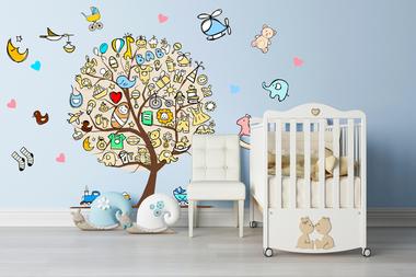 Наклейка Детское дерево
