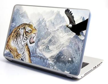 Наклейка тигр и орел в горах