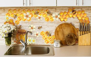 Наклейка Пчелки и соты