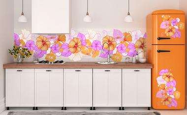 Наклейка орнамент из цветов