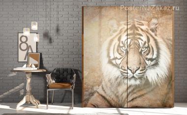 Наклейка Большой тигр
