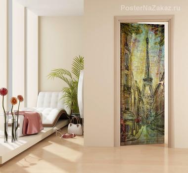 Наклейка рисунок Эйфелева башня