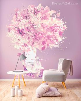 Наклейка Романтическое дерево