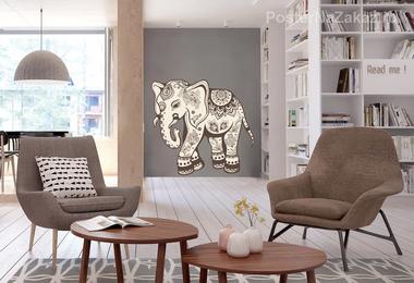 Наклейка Слон Индия