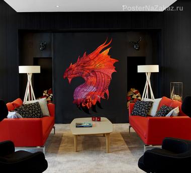 Наклейка Огненный дракон