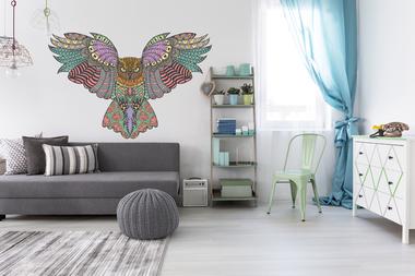 Наклейка ажурная сова