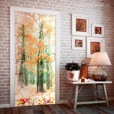 Наклейка Золотой лес