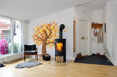 Наклейка Осеннее дерево
