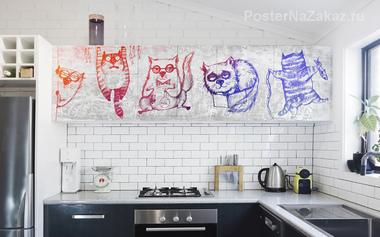 Наклейка Смешные котики