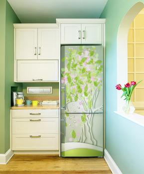 Наклейка Весенний холодильник
