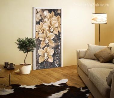 Наклейка Монохромные орхидеи