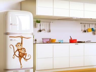 Наклейка Обезьянки на холодильник